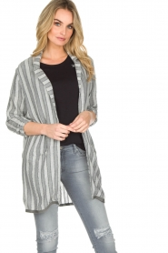 Ruby Tuesday |  Striped blazer Odesa | grey  | Picture 2