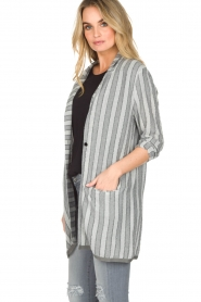 Ruby Tuesday |  Striped blazer Odesa | grey  | Picture 4