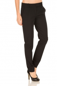 Hunkydory | Pantalon pencil slacks | zwart  | Afbeelding 4