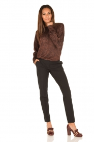 Hunkydory | Pantalon pencil slacks | zwart  | Afbeelding 3