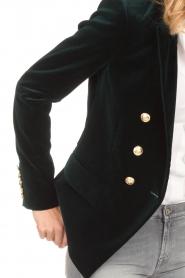 Hunkydory | Stretch fluwelen blazer Wilson | groen  | Afbeelding 6