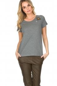Hunkydory | Katoenen T-shirt Bumblebee | grijs  | Afbeelding 2