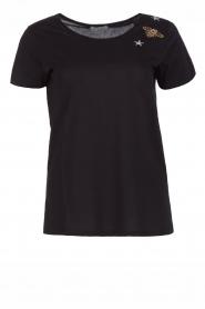 Hunkydory | Katoenen T-shirt Bumblebee | zwart  | Afbeelding 1