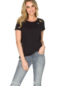 Hunkydory | Katoenen T-shirt Bumblebee | zwart  | Afbeelding 2