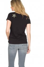 Hunkydory | Katoenen T-shirt Bumblebee | zwart  | Afbeelding 5