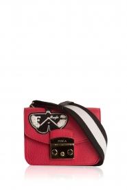 Furla | Leren schoudertas Metropolis Mini | rood  | Afbeelding 1