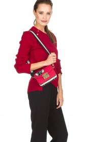 Furla | Leren schoudertas Metropolis Mini | rood  | Afbeelding 2