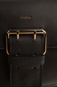 Furla | Leren schoudertas Hashtag | zwart  | Afbeelding 5
