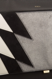 Furla | Leren schoudertas Like | zwart wit  | Afbeelding 6