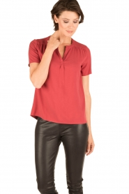 Knit-ted | Blouse Minne | rood  | Afbeelding 2