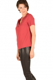 Knit-ted | Blouse Minne | rood  | Afbeelding 3