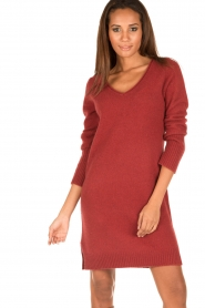 Knit-ted | Jurk Bente | rood  | Afbeelding 2