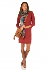 Knit-ted | Jurk Bente | rood  | Afbeelding 3