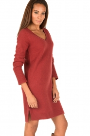 Knit-ted | Jurk Bente | rood  | Afbeelding 4