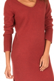 Knit-ted | Jurk Bente | rood  | Afbeelding 6