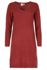 Knit-ted | Jurk Bente | rood  | Afbeelding 1
