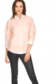 Knit-ted | Gebreide trui Babs | roze  | Afbeelding 2