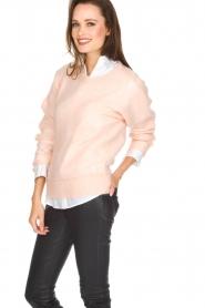 Knit-ted | Gebreide trui Babs | roze  | Afbeelding 4