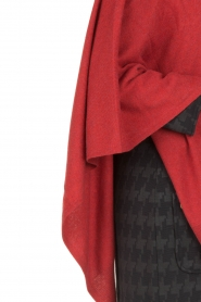 Knit-ted | Wrap poncho Tara | rood  | Afbeelding 7