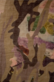 I love my Moment | Wollen sjaal Bryne | groen  | Afbeelding 4