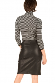 Rosemunde |  Silk turtle neck top Belle | black & white  | Picture 5
