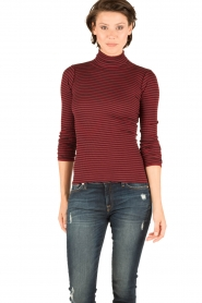 Rosemunde |  Silk turtleneck top Belle | bordeaux  | Picture 2