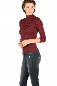 Rosemunde |  Silk turtleneck top Belle | bordeaux  | Picture 3