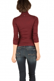 Rosemunde |  Silk turtleneck top Belle | bordeaux  | Picture 4