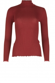 Rosemunde | Zijden turtleneck top Belle | bordeaux