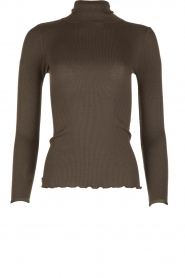 Rosemunde | Zijden turtleneck top Belle | grjis