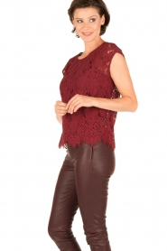Rosemunde | Kanten top Cella | bordeaux  | Afbeelding 4