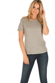 American Vintage | T-shirt Sand Sky | grijs  | Afbeelding 2