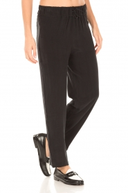American Vintage | High waist broek Azawood | zwart  | Afbeelding 4