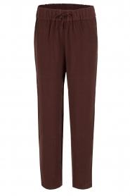 American Vintage | High waist broek Azawood | bordeaux rood  | Afbeelding 1