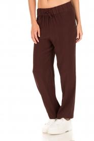 American Vintage | High waist broek Azawood | bordeaux rood  | Afbeelding 4