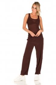 American Vintage | High waist broek Azawood | bordeaux rood  | Afbeelding 6