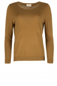 American Vintage |  Fine knitted sweater Lobaisland | groen  | Picture 1