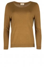 American Vintage | Fijn gebreide trui Lobaisland | groen  | Afbeelding 1