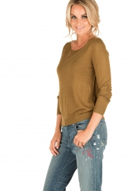 American Vintage |  Fine knitted sweater Lobaisland | groen  | Picture 3