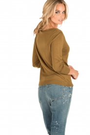 American Vintage | Fijn gebreide trui Lobaisland | groen  | Afbeelding 4