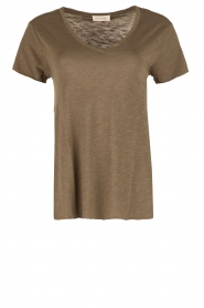 American Vintage | T-shirt Jacksonville | leger groen  | Afbeelding 1