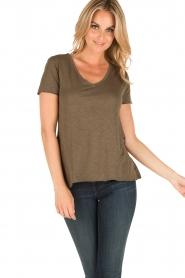 American Vintage | T-shirt Jacksonville | leger groen  | Afbeelding 2