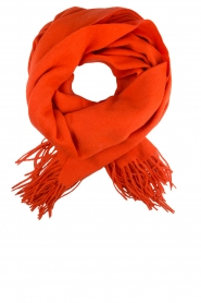Becksöndergaard | Wollen sjaal Crystal | rood  | Afbeelding 1