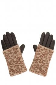 Becksöndergaard | Leren handschoen Barre | dierenprint  | Afbeelding 1