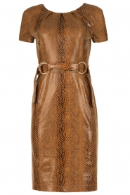 Ana Alcazar |  Dress Bentley | brown  | Picture 1