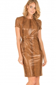 Ana Alcazar |  Dress Bentley | brown  | Picture 2