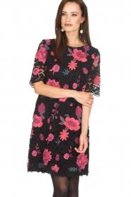 Ana Alcazar |  Lace dress Senza | black  | Picture 2