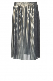 Ana Alcazar |  Metallic skirt Melody | silver  | Picture 1