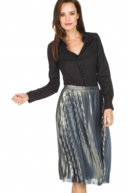 Ana Alcazar |  Metallic skirt Melody | silver  | Picture 2