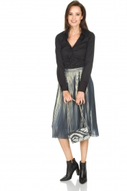 Ana Alcazar |  Metallic skirt Melody | silver  | Picture 3